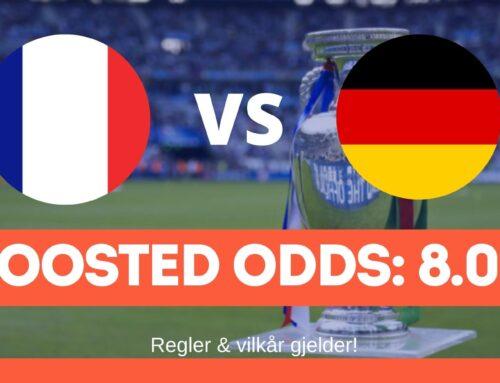 Fotball-EM boosted odds: Frankrike vs Tyskland